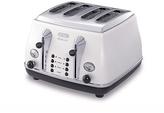 De'Longhi Micalite 4 Slice Toaster - White