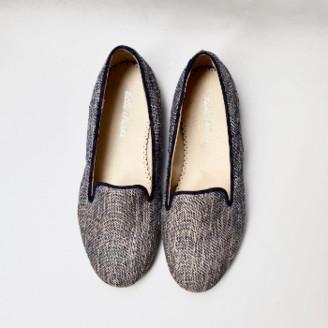 Belle Chiara - Rustic Blue Linen Cary Shoes - 32   blue   linen - Blue/Blue