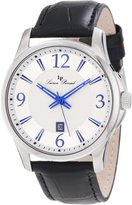Lucien Piccard Men's 11566-02S Adamello Textured Dial Black Leather Watch