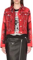 Moschino Crease-print denim jacket