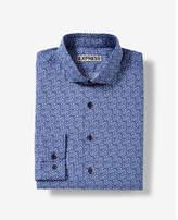 Express fitted floral vine cotton dress shirt