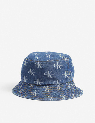 Calvin Klein Monogram-print cotton bucket hat