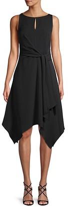Karl Lagerfeld Paris Asymmetric Fit--Flare Dress