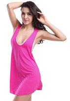 YOUJIA Women Beach Dress Cover Up Bikini One Piece Bathing Suits Tankinis