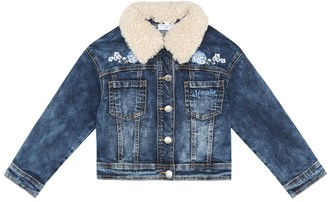 MonnaLisa Floral applique denim jacket