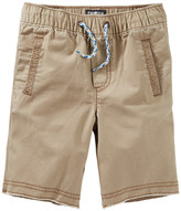 Osh Kosh Toddler Boy Brown Pull-On Canvas Shorts