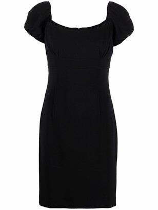 Pre-Owned Puff Sleeves Empire-Line Dress