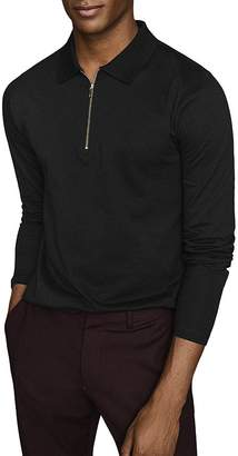 Reiss Jason Long-Sleeve Half-Zip Polo Shirt