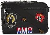 Alexander Mcqueen Badge Emblem Nylon Cross-body Bag