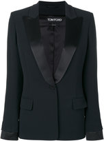 Tom Ford pointed lapels cocktail blazer - women - Silk/Spandex/Elastane/Acetate/Viscose - 38