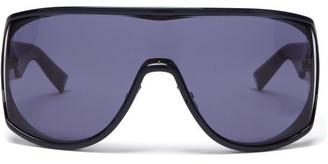 Givenchy Oversized Logo-debossed Acetate Sunglasses - Black