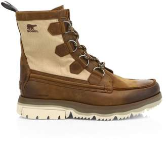 Sorel Atlis Caribou Leather & Canvas Hiking Boots