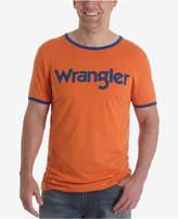 Wrangler Men's 70th Anniversary Collection Kabel Logo Ringer T-Shirt