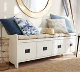 Pottery Barn Wade Bench, Almond White