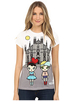 Love Moschino T-Shirt with Girl Graphic