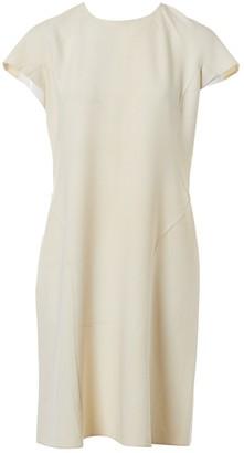 Celine Ecru Wool Dresses