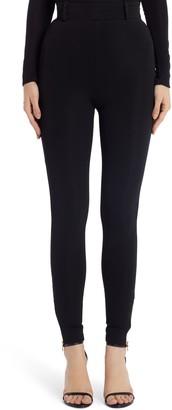 Versace First Line Ankle Zip High Waist Skinny Pants