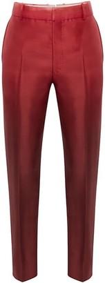 Alexander McQueen Dip Dye Wool & Silk Cigarette Trousers