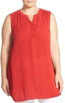 Sejour Sleeveless Gauze Tunic (Plus Size)