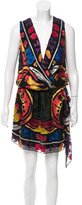 Anna Sui Sleeveless Printed Knee-Length Dress