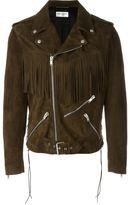 Saint Laurent fringed motorcycle jacket