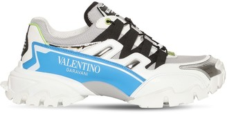 Valentino CLIMBER MESH & LEATHER SNEAKERS