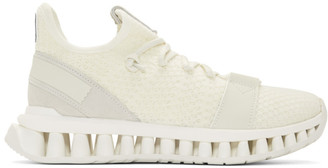 Ermenegildo Zegna White TechMerino A-Maze Sneakers