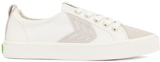 Cariuma CATIBA Low Off White Canvas Ice Suede Accents Sneaker