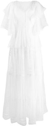 Alberta Ferretti Broderie Anglaise Maxi Dress