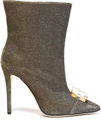 Marco De Vincenzo Embellished Iridescent Lame Ankle Boots