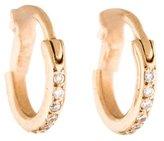 Ileana Makri 18K Diamond Huggie Hoop Earrings