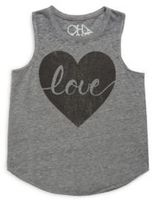 Chaser Toddler's, Little Girl's & Girl's Love Tank Top