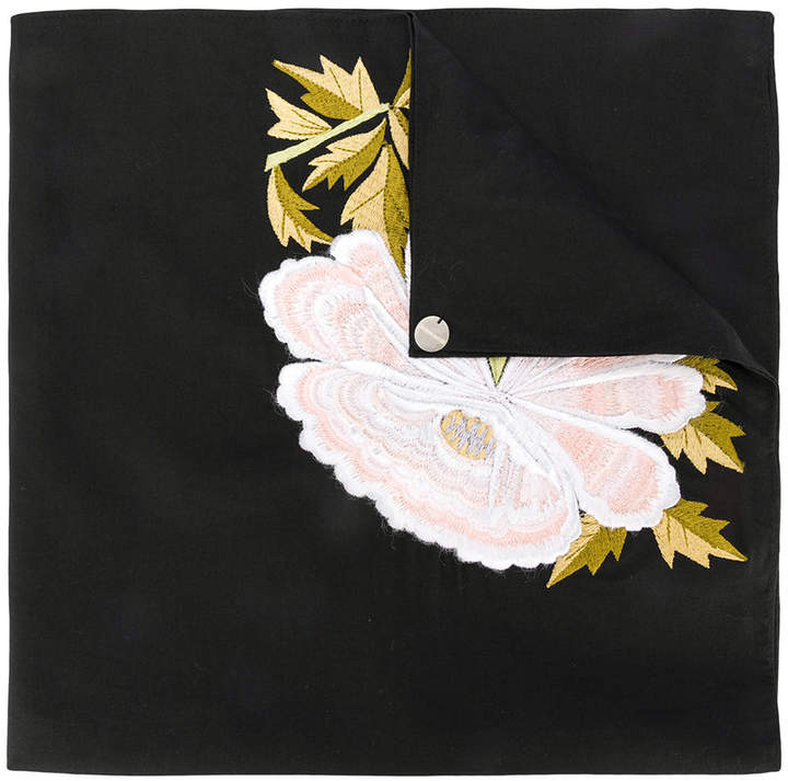 Ann Demeulemeester embroidered peony scarf