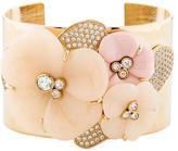 Nina Ricci Crystal Flower Cuff
