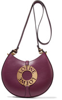 Loewe Joyce Small Embellished Leather Shoulder Bag - Burgundy