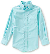 Class Club Big Boys 8-20 Unsolid Solid Subtle Stripe Pocket Button-Front Shirt