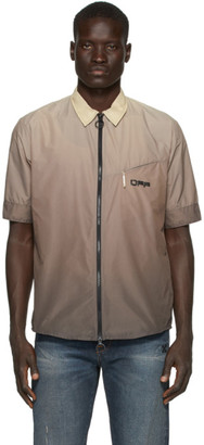 Off-White Beige Gradient Rivel Trail Shirt