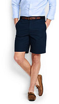 "Lands' End Men's Traditional Fit Comfort Waist 9"" Lightweight Casual Chino Shorts-Steeple Gray"