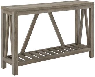 "Walker Edison 52"" Modern Farmhouse Entryway Table, Gray Wash"