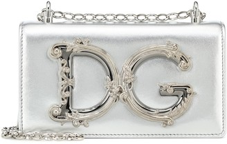 Dolce & Gabbana Girls Small leather shoulder bag