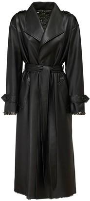 ANOUKI Reversible Faux Leather & Sequins Coat