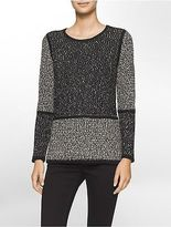 Calvin Klein Womens Colorblock Panel Sweater