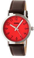 Crayo Pride Unisex Brown Strap Watch-Cracr3801