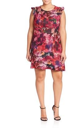 ABS by Allen Schwartz Plus Floral Printed Dress