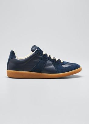 Maison Margiela Men's Replica Leather/Suede Low-Top Sneakers