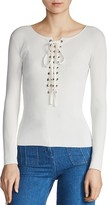 Maje Matana Lace-Up Sweater