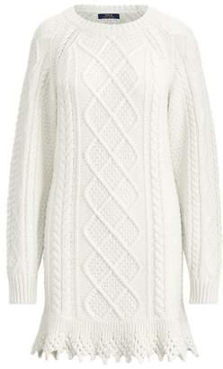 Ralph Lauren Aran-Knit Jumper Dress