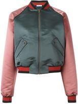 Tomas Maier colour block bomber jacket