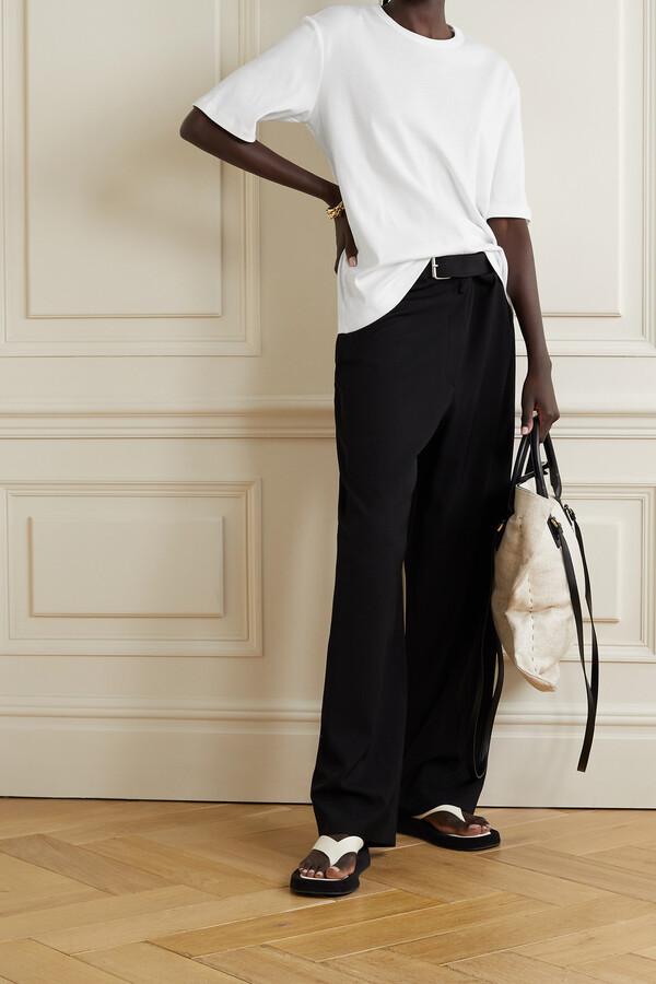 Thumbnail for your product : FRANCES DE LOURDES Grace Oversized Organic Cotton-jersey T-shirt - White