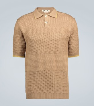 Marni Knitted wool polo shirt